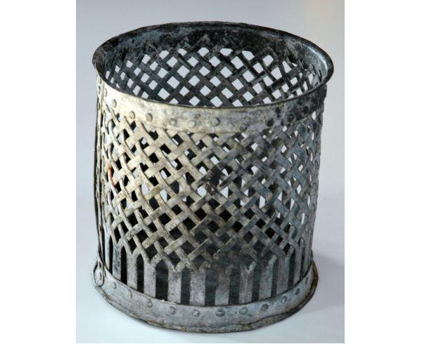 708 -  Lanterna metal cinza